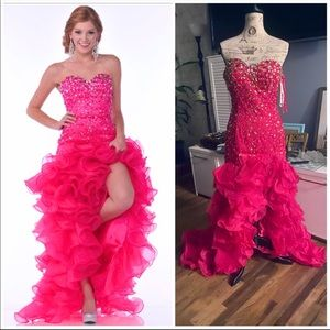 Gorgeous organza beaded gall gown pageant dress